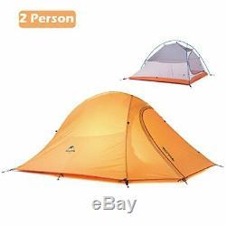 Azarxis 1 2 3 Person Man 3 4 All Season Tents for Camping (Orange 2 Person)