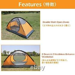 Azarxis 1 2 Man Person 3 Season Tent for Camping Backpacking Hiking Easy. New