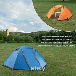 BISINNA 2 Man Camping Tent Outdoor Lightweight Waterproof Windproof Easy Setup 3