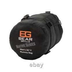 Bear Grylls Sleeping Bag Men's 30F for Camping, Backpacking, Hunting, Tent, ETC