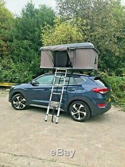 Black Expedition Overland Hard Shell 3 Person Roof Top Camping Tent