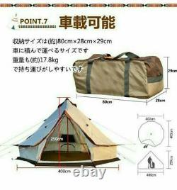 Camp Tent One Pole Glamping 400Cm For People Bell