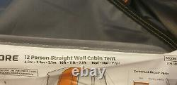 Camp Valley Core 12 Man Person Straight Wall Cabin Tent Camping Large Family