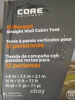 Camp Valley Core 12 Person/Man Straight Wall Cabin Tent boxed
