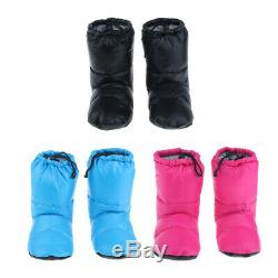 Camping Goose Down Booties Boots Slippers for Men Women Home Tent Bedroom