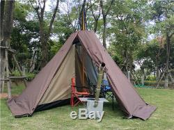 Camping Survival Hunting Winter Tent Teepee Pyramid With Stove Jack 4 Man Person