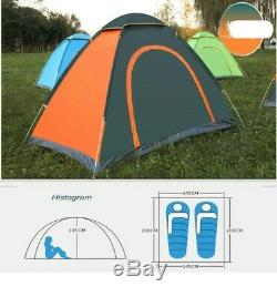 Camping Tents Pop Up Fully Automatic Quick Opening Small Backpacking Hiking 2Man
