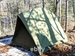 Canadian Military 4-Man RECCE crew Tent Camping, frame & fly, new leg poles