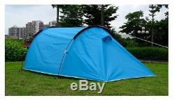 Car 2 Man Two Person Camping Tent Waterproof Tunnel Hoop Dome 3 Season Light 1