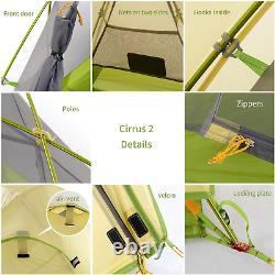 Cirrus Backpacking Tent 2 Person Ultralight Outdoor Travel Camping