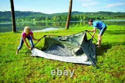 Coleman 4 Person Tent Green/White for Camping, Festivals, 4 Man Capacity