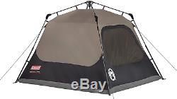 Coleman Cabin Tent with Instant Setup 4 Man Cabin Tent Camping Sets Up in 60 Sec