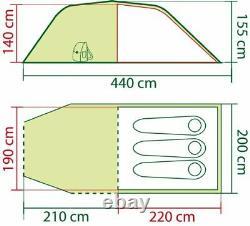 Coleman Coastline 3 Plus 3 Man Camping Outdoor Tent Green/Grey