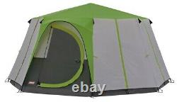 Coleman Green Octagon 6 Man Dome Tent Festival Person Family Camping Shelter