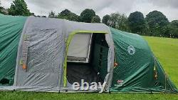 Coleman Inflatable Tent 6 man Valdes 6L, Camping tunnel tent with air poles