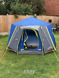 Coleman Octago 3 Man Tent Berth Camping Glamping Festival Garden Caravaning BBQ
