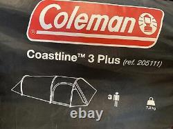 Coleman Tent Coastline 3 Plus 3 Man Camping Trekking Waterproof Tunnel UK