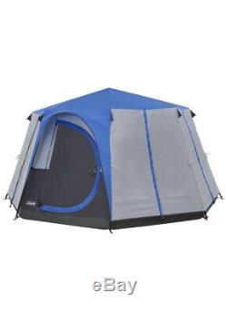 Coleman Tent Octagon, 3 to 6 Man Festival Dome Tent, Family Camping Tent