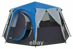 Coleman Tent Octagon, 6 Man Festival Dome Tent, 6 Person Family Camping Tent