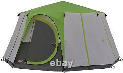 Coleman Tent Octagon, 6 Man Festival Dome Tent, 6 Person Family Camping Tent wit