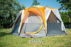 Coleman Tent Octagon, 6 to 8 Man Festival Dome Tent, Waterproof Family Camping