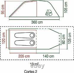 Cortes 2 Tent, 2-3 man tent, 1 Bedroom Camping Hiking Tent, waterproof