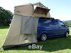 Deluxe Overland 3 Man 1.4M 4x4 Expedition Roof Camping Tent + Annex + Ladder