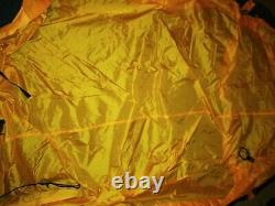 Eureka Solitaire Tent 1 Person 3 Season Camping Yellow Black Preowned GC