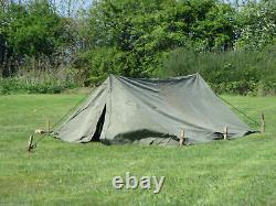 Ex British Army 2 Man Canvas Bivvy Tent Camping Fishing Festival MOD Military