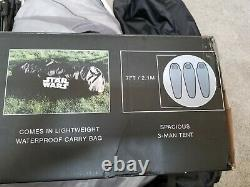 Excellent! (Used 1X) Disney STAR WARS DEATH STAR 3-Man Camping Tent withFlashlight