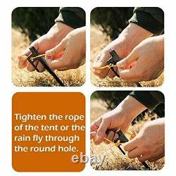 Forged Steel Tent Stakes Heavy Duty Tarp Pegs Solid Stakes Footprint Camping St