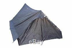 French Army Military Surplus Camping 2 Man Pup Tent, Olive Drab