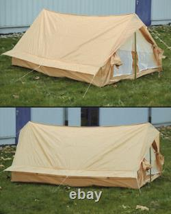 French Two Man Tent Khaki Used Outdoor Camping Duo Tent Biwak Tent
