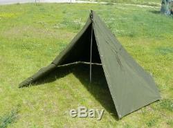 Genuine Polish Army 2 Man Canvas Teepee Tent Lavvu Rain Poncho festival camping