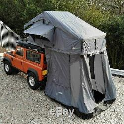 Grey Expedition Fold Out 3 Person Roof Top Camping Tent