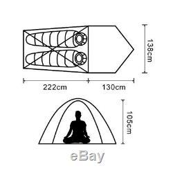 HIMAGET Lightweight 25D Nylon 2 Person Man 3 Season Tent Trekking Camping Canopy