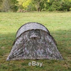 Highlander Blackthorn 2 Person Tunnel Tent Army Camping Backpacking Hunter Green