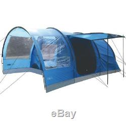Highlander Oak 6 Person Large Family Camping Holiday Tunnel Tent Imperial Blue