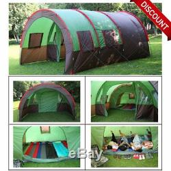 Hiking Traveling Camping Tunnel Tent 6-10Person Man Large Family Group+Carry Bag