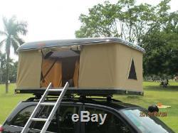 Hyundai Tucson 15+ 3 Man Hard Shell Roof Tent Rack Waterproof LED Light Camping