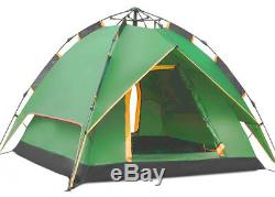 Instant Automatic Pop Up Backpacking Camping Hiking 4 Man Tent