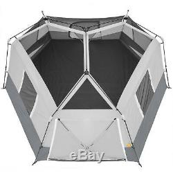 Instant Cabin Tent Ez Set Pop Up Hexagon 11 Man Person Outdoor Camping Shelter