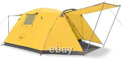 KAZOO Outdoor Camping Tent Durable Waterproof, Family Large Tents 4 Person Easy