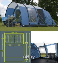 Kampa Paloma 6 AIR berth person man camping inflatable tent CT3053 2018