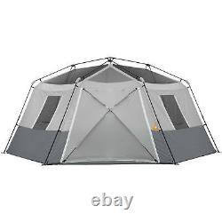 Large 10 Man Person Instant Cabin Tent Ez Set Pop Up Family Camping Shelter Tent