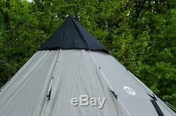Large 12 Person Man Teepee Tent Center Pole Waterproof Design Sleeping Camp Unit