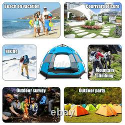 Large 5-7 Man Person Automatic Tent Festival Camping Fishing Rain Cover Outdoor