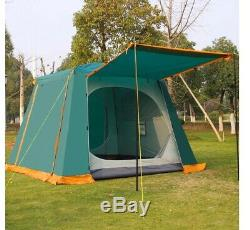 Large Big 4 6 Man Person Family Camping Car Travel Living Tent Quick Setup Camp