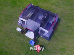 Large Family Cabin Tent 16 Person Man 3 Room Door Camping Sleeping Shelter Unit