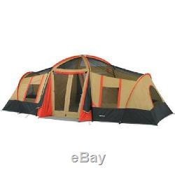 Large Tent Camping Outdoor Ozark Trail 3 Room 10 Person Family Outing Waterproof